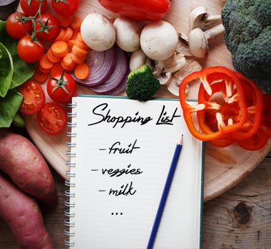 diabetes shopping list ready list