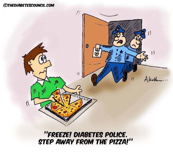 diabetic police please stop it
