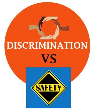 safety vs discrimination