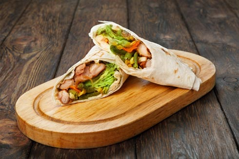 bbq chicken wrap
