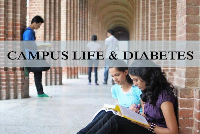 how to manage diabetes in dorm and campus life